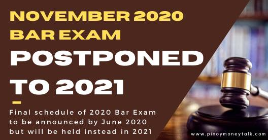 Bar Exam in November 2020 cancelled and moved to 2021