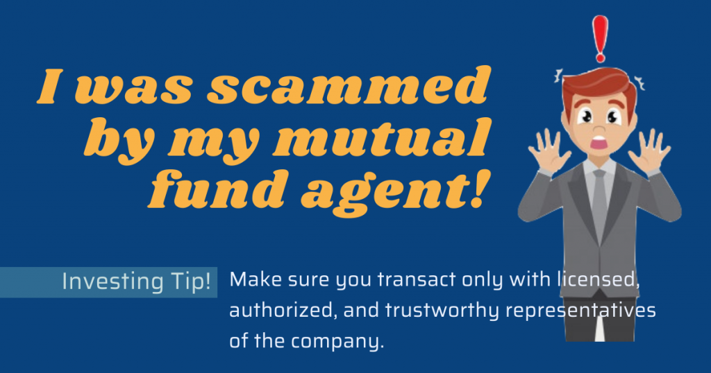 Scammed by a mutual fund agent