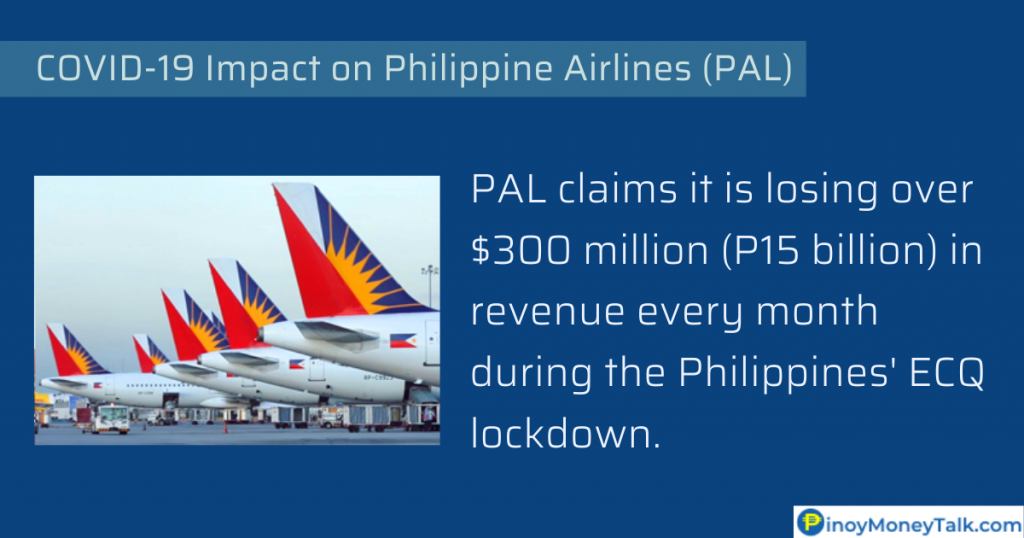 PAL claims it is losing over $300 million or P15 billion in revenue every month during the lockdown