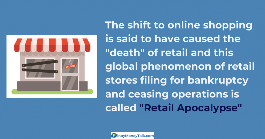 "Online shopping is causing the ""death"" of retail and this phenomenon is called ""retail apocalypse"""