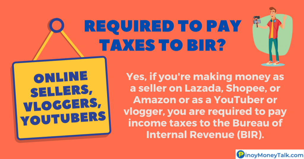 Are online sellers and YouTubers required to pay taxes?