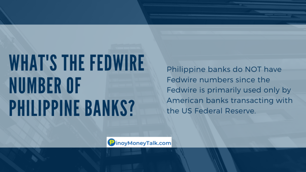 What's the Fedwire number of Philippine banks?