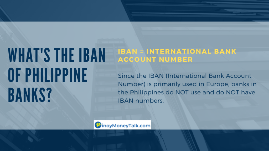 What's the IBAN number of Philippine banks?