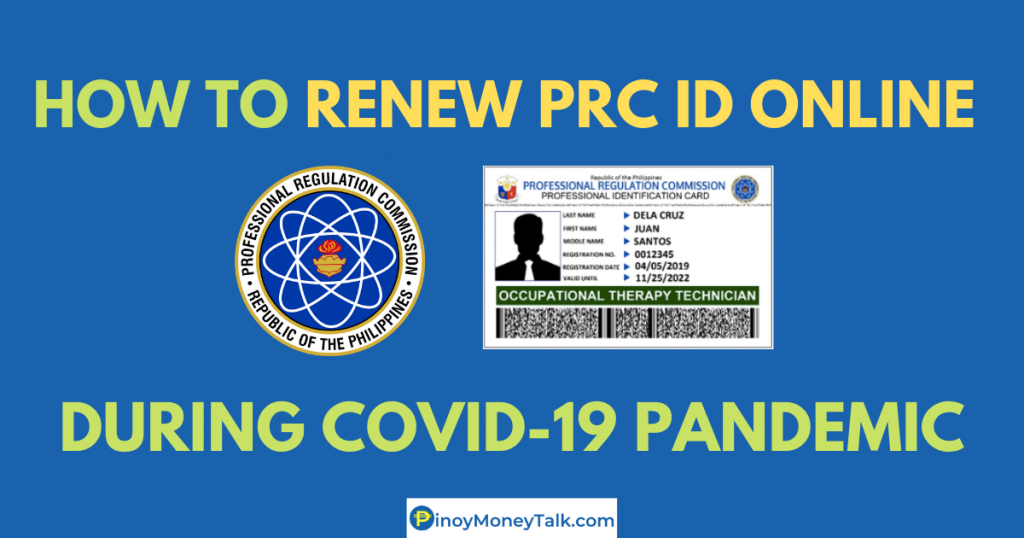 How to renew PRC ID online during COVID-19 Pandemic