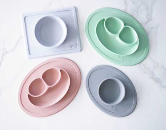 EZPZ is a silicone food placemat for kids that clings on tables