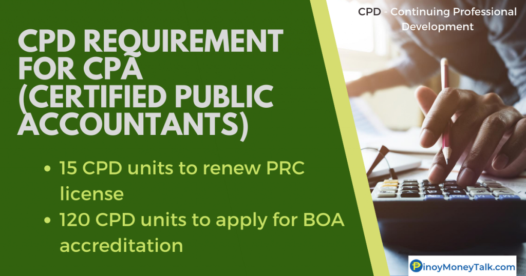 Required CPD units for CPA