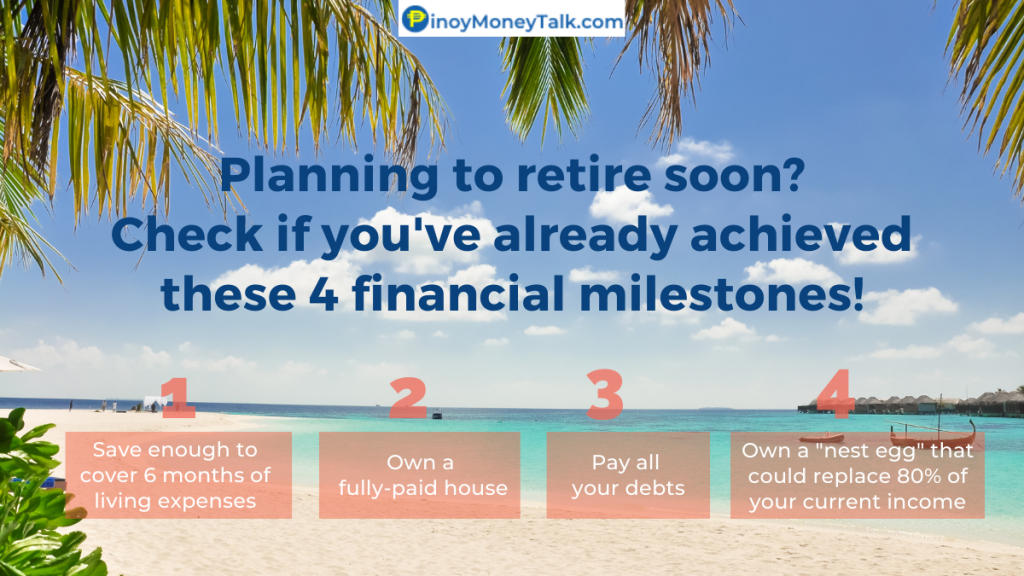 Financial milestones before you can retire rich